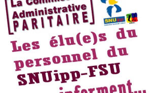 Les coordonnées des élus du SNUipp FSU Aisne en CAPD