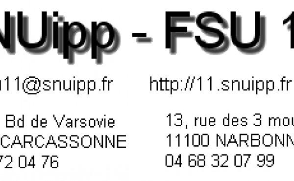 PERMANENCES SNUipp-FSU 11 SPÉCIAL MOUVEMENT