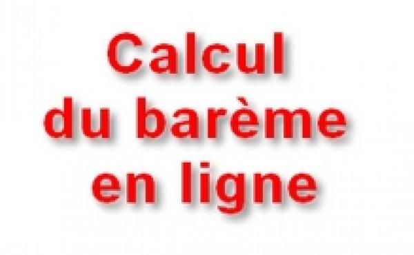 Calcul barème (mise à jour prochaine)