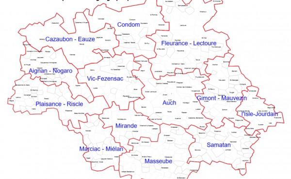 Les 13 zones géographiques