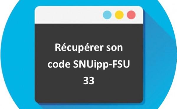 récupérer son code SNUipp