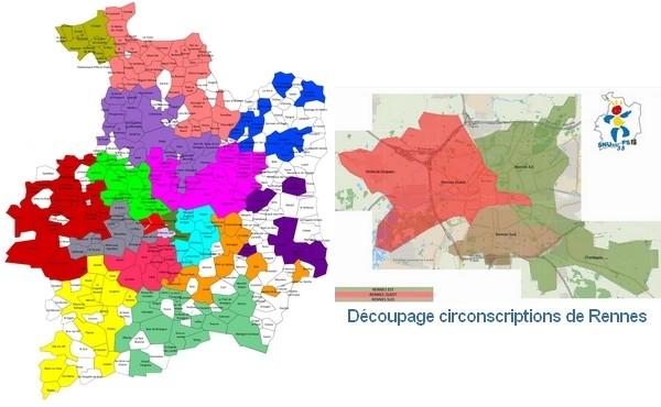 Carte des circonscriptions Rentrée 2016