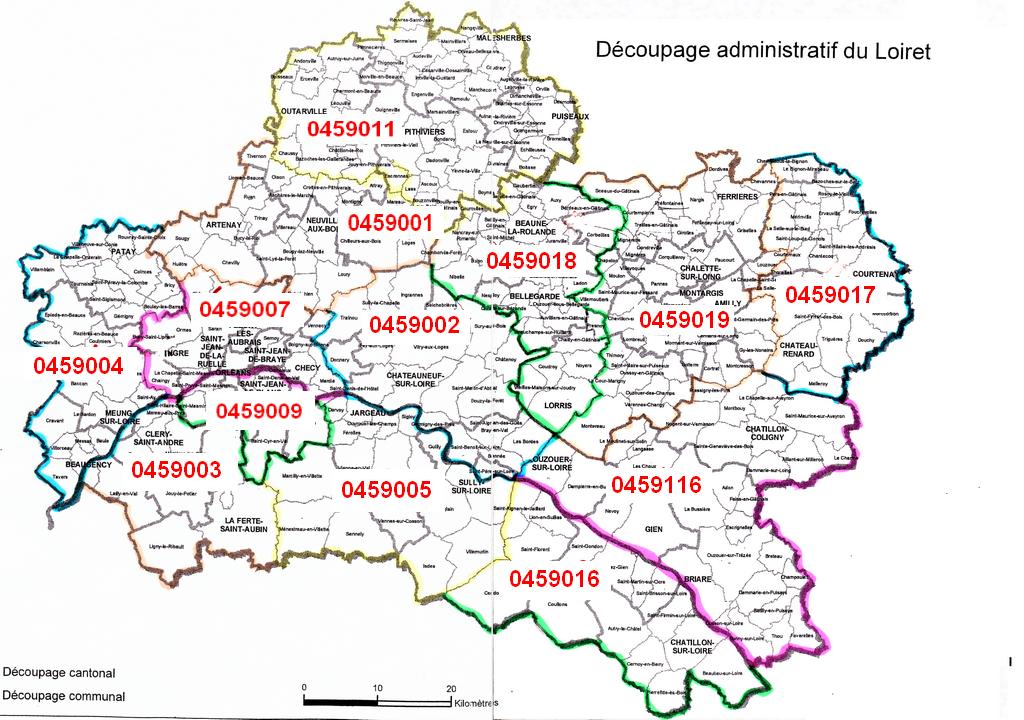 Carte du loiret voyages cartes for Region loiret