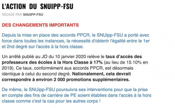 L'ACTION DU SNUipp-FSU