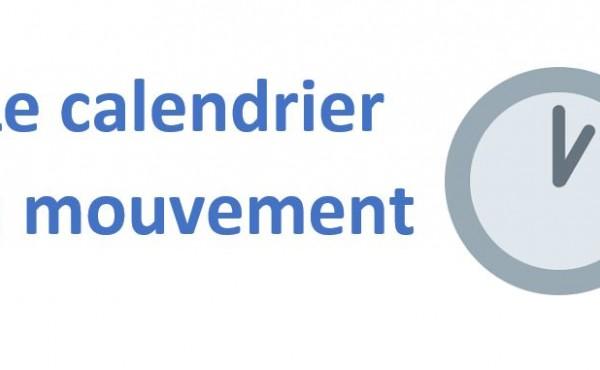 Le calendrier du mouvement 2020