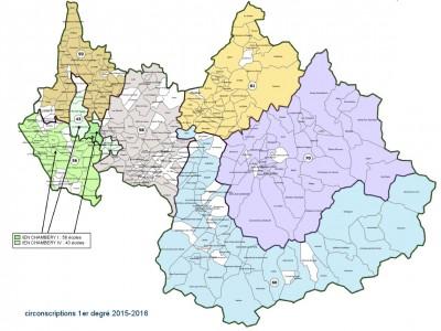 Carte des circonscriptions