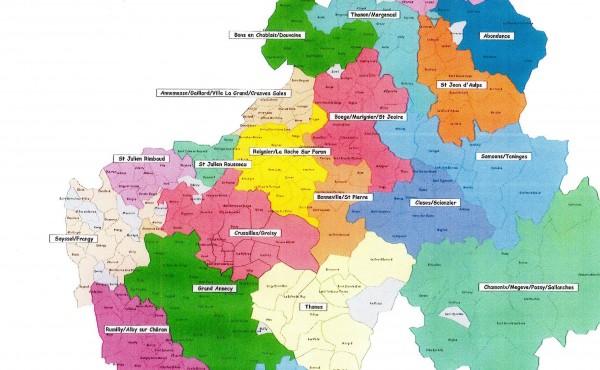 Les secteurs géographiques