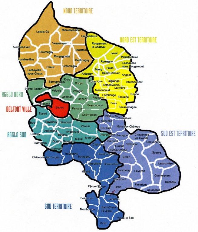 carte zones géographiques du 90